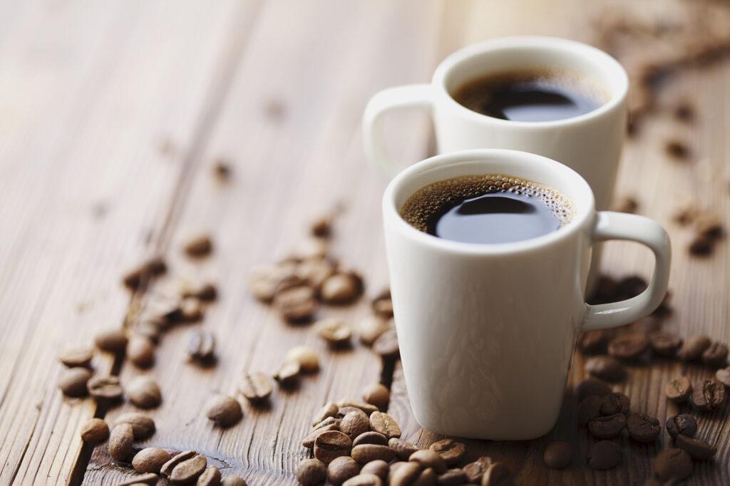 two modern espresso cups